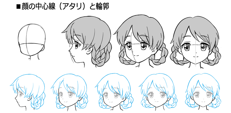 女の子 横顔 書き方